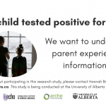 Experiences and Information needs of Canadian parents with a COVID-19 positive child